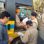 भोपाल:परिवहन मंत्री ने स्कूल बसों का निरीक्षण किया, 11 बसों ..