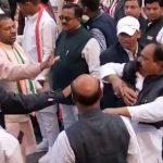 इंदौर:  कांग्रेस नेताओं के बीच झड़प, एक-दूसरे को थप्पड़ ..